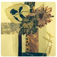 floral mixed-media sample