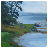 acrylic painting of inlet