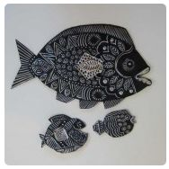 thumbnail of repousse fish