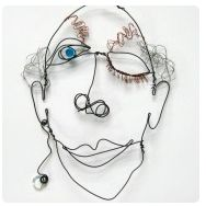 wire face sculpture