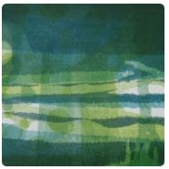 monotype abstract of water